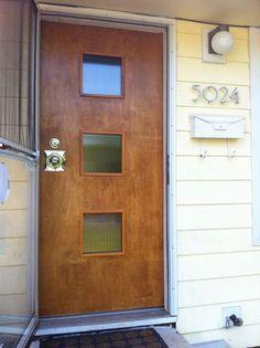 Diy Mid Century Front Doors Readers Show Us How Front Entry Doors Double Door Entrance Double Front Doors