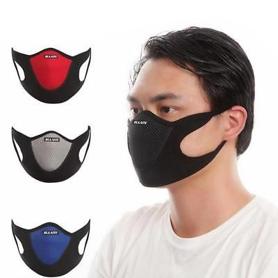 Anti Dust Filter Half Face Mask Cycling Bicycle Motorcycle Skiing Mouth Mask Anti Pollution Mask Face Mask Protective Masks