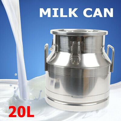 Ad Ebay Url 20l Stainless Milk Can Container Wine Pail Bucket Tote Jug Embedded Silicone Us In 2020 Pail Bucket Bucket Tote Milk Cans