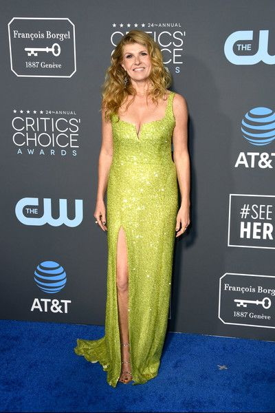 Connie Britton attends the 24th annual Critics' Choice Awards at Barker Hangar.