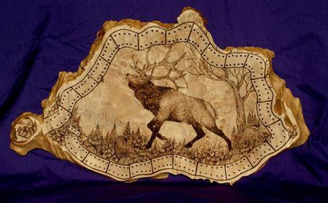 Free+Deer+Print+Wood-Burning+Patterns | Donna lee's wood burning art
