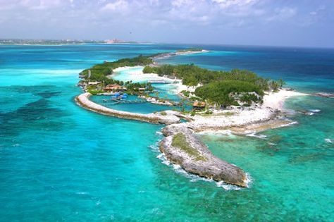 Blue Lagoon, Bahamas--convinced I was caught in a rip tide---scary day.  Once that was over fun as usual.