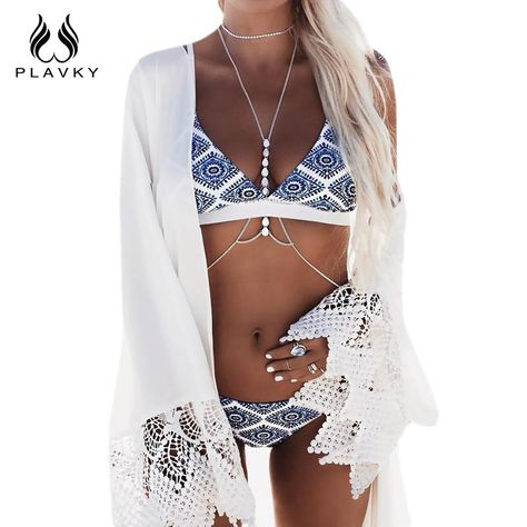 Sexy, White and Blue Bikini – One of the most popular bikini this season! We recommend this fashion Women's Sexy Bikini Set for you to enjoy the hot summer. Amazing White and Blue Bikini to define your beauty.