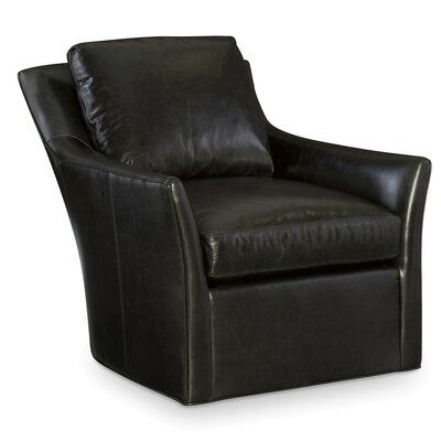 Cr Laine Studio Leather Swivel Club Chair Body Fabric Winchester