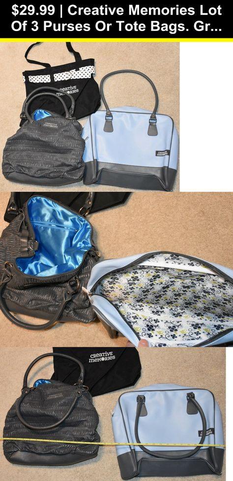 Creative Memories Used Scrapbook Navy Tote Bag