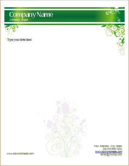 Business Letterhead Template DOWNLOAD at http\/\/wwwbizworksheets - business letterhead