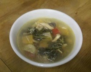 Chicken Kale Soup (great for all phases)