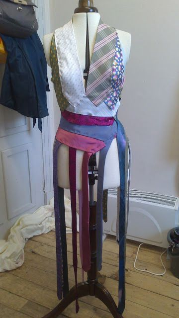 Recycled Fashion: Re-fashioned Upcycled Necktie Dress