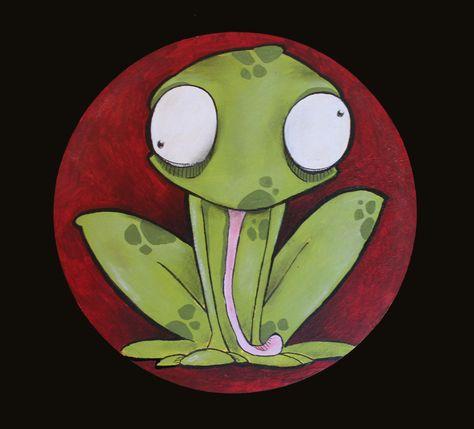 L'estasi dell'anfibio di ilcaloredeicolori su Etsy