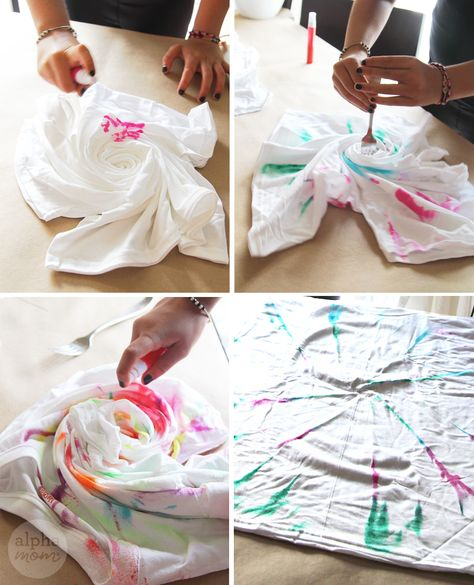 0459bfeb8f How to Make T-Shirt Swimsuit Cover-Ups by Brenda Ponnay for Alphamom.com  #SummerCraft #BeachCraft #KidCraft #SummerFun #TweenCrafts