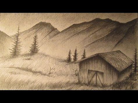 Cómo Dibujar Un Paisaje Realista A Lápiz Paso A Paso Youtube Paisaje A Lapiz Paisajes Dibujos Dibujos A Lapiz Faciles