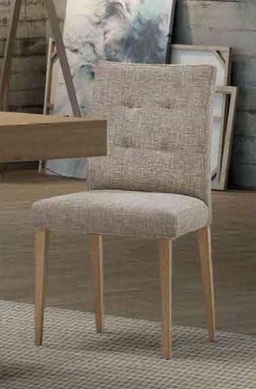 Silla de roble para salon tapizada, sillas para el salon con ...