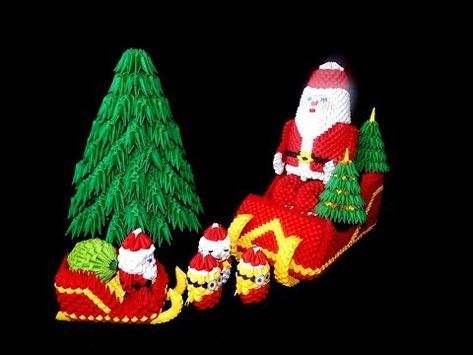 Christmas Origami Santa Claus - Easy origami - How to make an easy ... | 355x473