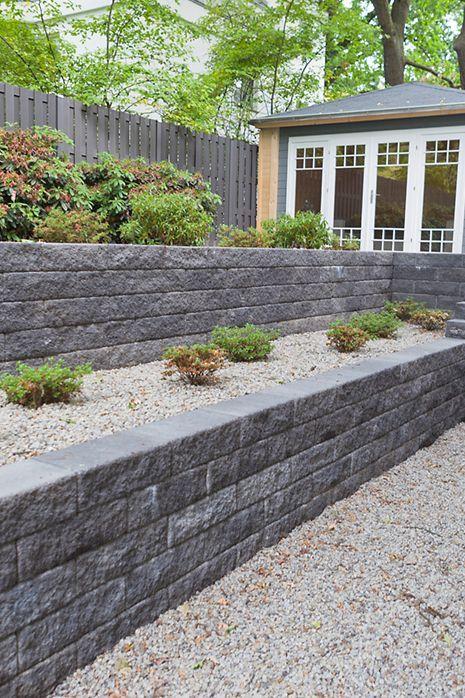 Schone Terrassierung Im Garten Statt Einer Einzigen Mauer Entschied Man Sich H Schone Terr Backyard Garden Design Backyard Garden Layout Garden Design Layout