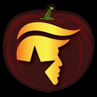 Donald trump smirk pumpkin carving stencil celebrity pumpkins