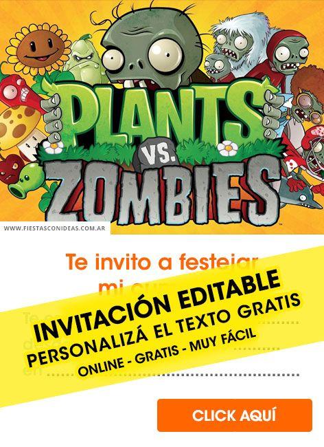 Tarjeta De Cumpleaños De Plants Vs Zombies Plantas Vs Zombies Cumpleaños Plants Vs Zombies Fiestas De Cumpleaños Del Zombie