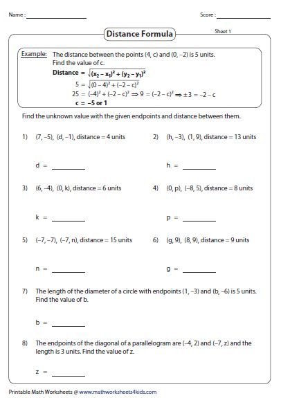 Distance Formula Word Problems Worksheet 2 In 2020 Word Problem