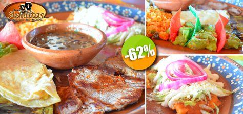 Las Adelitas - $149 en lugar de $396 por 1 Famoso Plato Tampiqueña con Filete de Res y Acompañamientos Mexicanos + 1 Postre + 1 Digestivo! Click http://ow.ly/rT6Sd