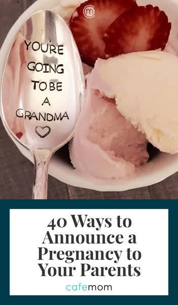 Give grandparents-to-be the surprise of their lives with these sentimental pregnancy announcement ideas for parents. Check out our 40 favorites at CafeMom.com. #pregnancyannouncement