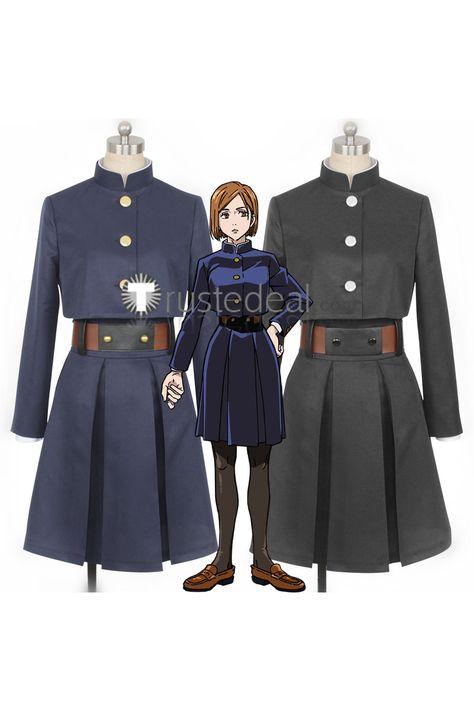 Jujutsu Kaisen Sorcery Fight Nobara Kugisaki Uniform Cosplay Costume In 2021 Cosplay Costumes Anime Inspired Outfits Cosplay