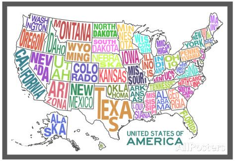 United States of America Map - Fun US Map for Playroom, Classroom or - copy world map pdf file