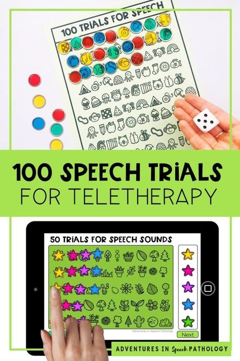 How to get high speech practice trials in teletherapy - Adventures in Speech Pathology Aphasia Therapy, Articulation Therapy, Speech Activities, Speech Language Therapy, Speech Therapy Activities, Speech And Language, Shape Activities, Occupational Therapy, Preschool Special Education