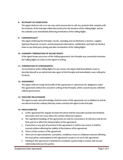 Commission Sales Agreement BUsiness Pinterest Free Printable   Sales Agency Agreement  Template  Business Sale Agreement Template Free