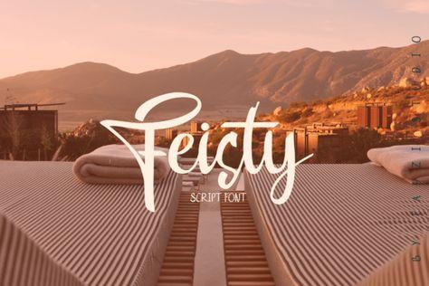 Feisty (Font) by sadatfauziee · Creative Fabrica
