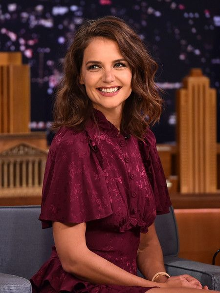 Katie Holmes visits 'The Tonight Show Starring Jimmy Fallon.'