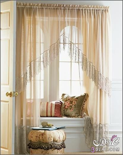 ستائر شيفون 2019 ستائر شيفون بسيطة وناعمة تناسب غرف النوم ستائر مودرن 2019 Decor Home Decor Curtains