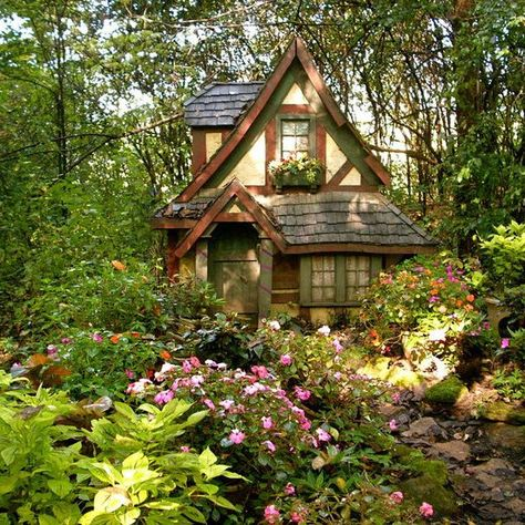 Tudor cottage in woods. My new home, I hope, will be a tudor style cottage. Tudor cottage in woods. My new home, I hope, will be a tudor style cottage. Tudor Cottage, Witch Cottage, Cute Cottage, Cottage In The Woods, Tudor House, Witch House, Cottage Homes, Cottage Style, Garden Cottage
