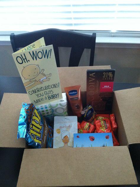 Pregnancy kit my friend sent me. What a sweet idea!