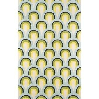 Sorbet Abstract Handmade Tufted Wool Yellow Light Green Light Pink Area Rug In 2020 Wool Area Rugs Green Area Rugs Area Rugs