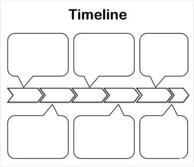 Blank Timeline Template For Kids1 Organizadores Graficos