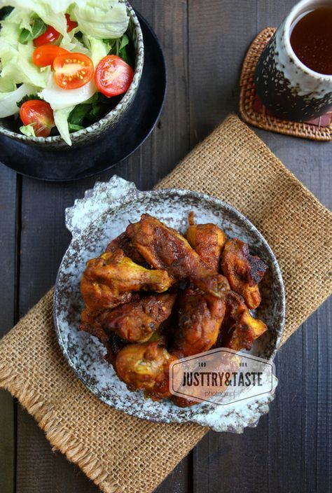 Roasted Spicy Chicken Resep Makanan India Resep Ayam Resep Sayap Ayam