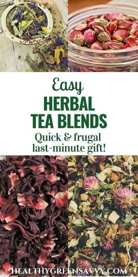 Blending your own herbal teas is easy and lets you pick and choose exactly the flavors and medicinal properties you're after, plus cut all the waste of tea bags. These easy homemade herbal tea blends also make great gifts! Herbal Tea Benefits, Best Herbal Tea, Herbal Teas, Making Herbal Tea, Homemade Tea, Tea Blends, Clotted Cream, How To Make Tea, Natural Herbs