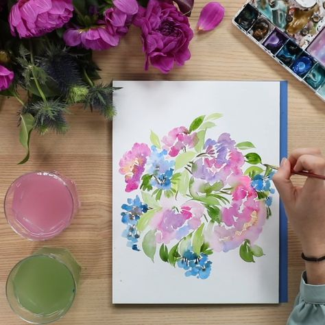 BRB, watching this on repeat. 😌🙏 Become a watercolor pro with our brand new Intermediate Watercolor Painting: Plants + Succulents online class! Pre-register today and save 30%!