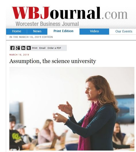 Emphasis on the Sciences at Assumption College