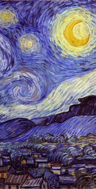 Vincent Van Gogh Starry Night Vintage Fine Art Speck Iphone