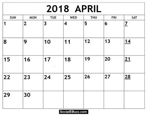 Pin By Calendar Printable On April 2018 Calendar July Calendar