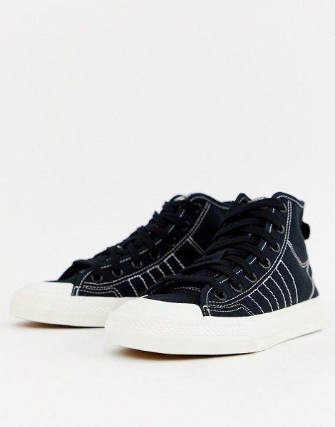 adidas Originals Black High Top Nizza Sneakers | Sneakers