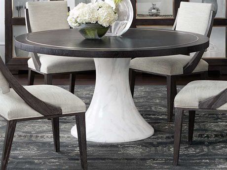 Bernhardt Decorage Cerused Mink Silver Mist 60 Wide Round Dining Table In 2021 Dining Table Marble Large Round Dining Table Round Dining Table