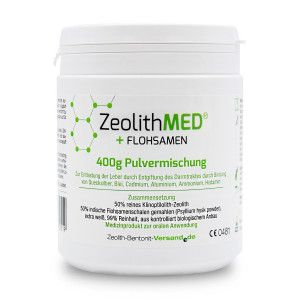 Zeolite Med Psyllium Miscela Di Polveri 400g Dispositivo Medico Bio Miscelatori Salute