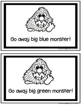 Go Away Big Monster Student Booklet Free Big Green Monster