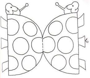 Dibujos Recortables De Animales Para Colorear Letter D Crafts Ladybug Crafts Shaped Cards