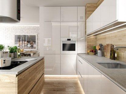 Portfolio Srednia Otwarta Kuchnia W Ksztalcie Litery L Z Wyspa Styl Skandynawski Zd Modern Kitchen Interiors Kitchen Design Kitchen Interior Design Modern