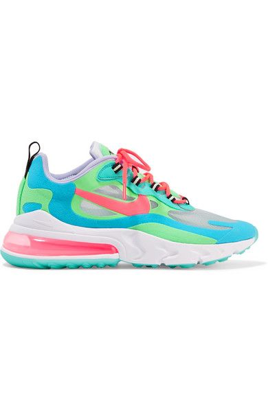 Nike Air Max 270 React Felt And Ripstop Sneakers Green