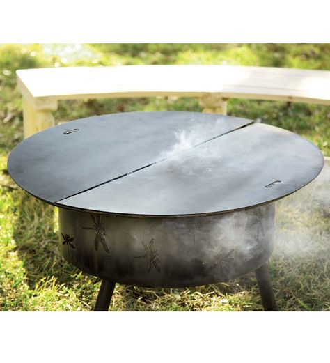 Round Steel Fire Pit Cover 34 Diam 99 95 Fire Pit Cover