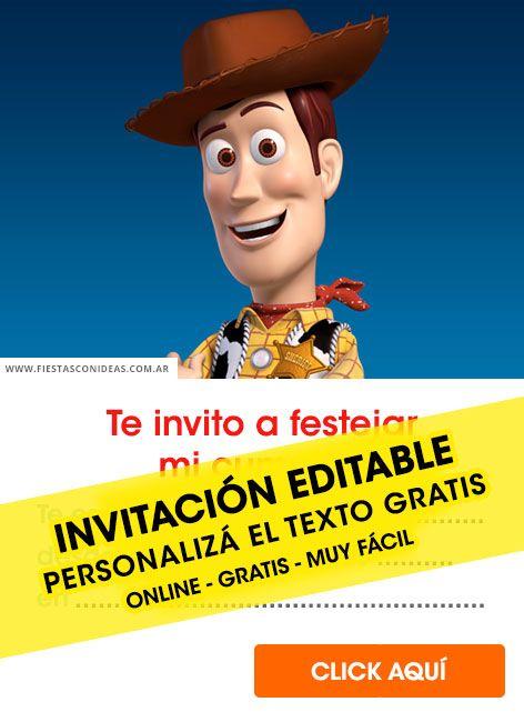 Tarjeta De Cumpleaños De Toy Story Invitaciones De Toy