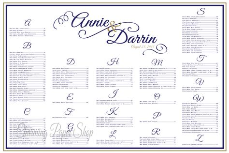 Wedding Seating Chart, Blue and Gold Wedding, Navy and Gold - free printable seating chart